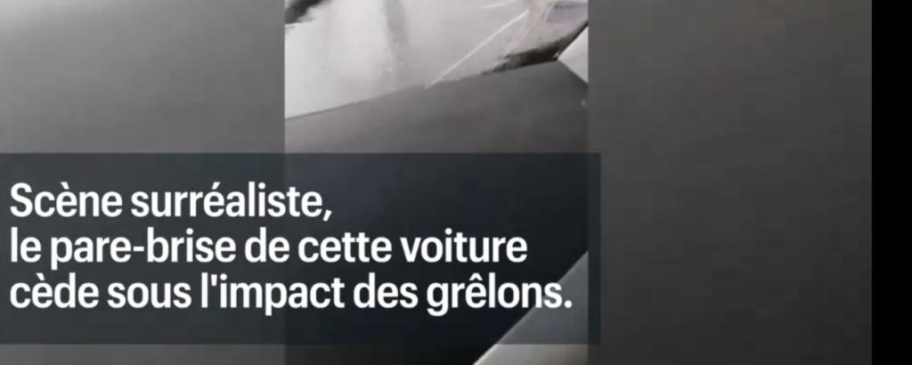 TF1 : Pare-brise cède sous l'impact des grelons