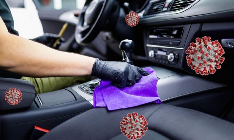 La désinfection d'un véhicule
