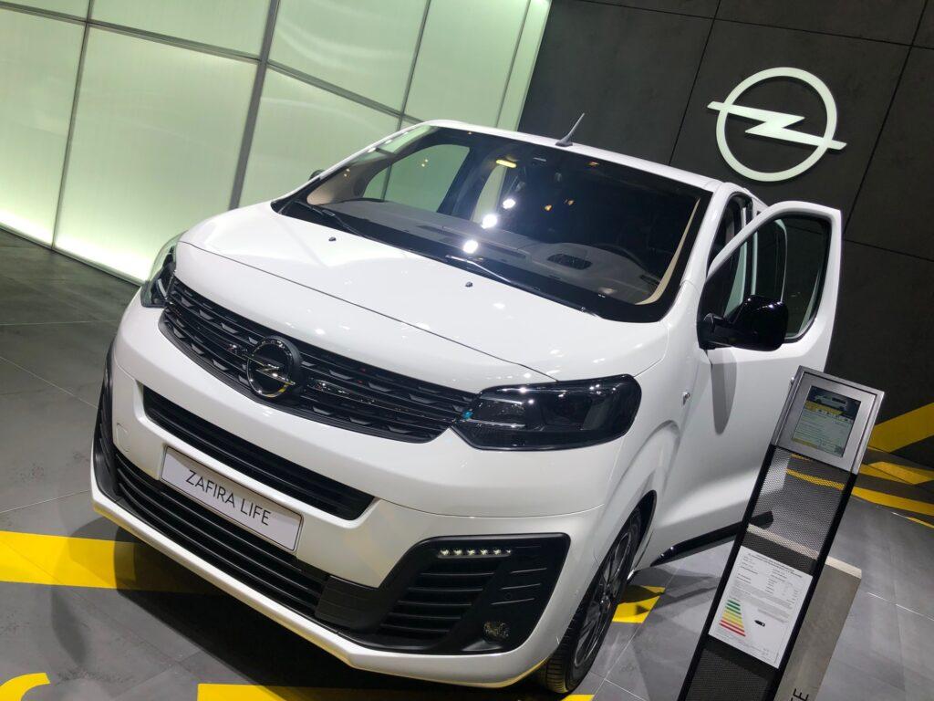 Opel Zafira devrait être le premier modèle à bénéficier de la technologie hydrogène